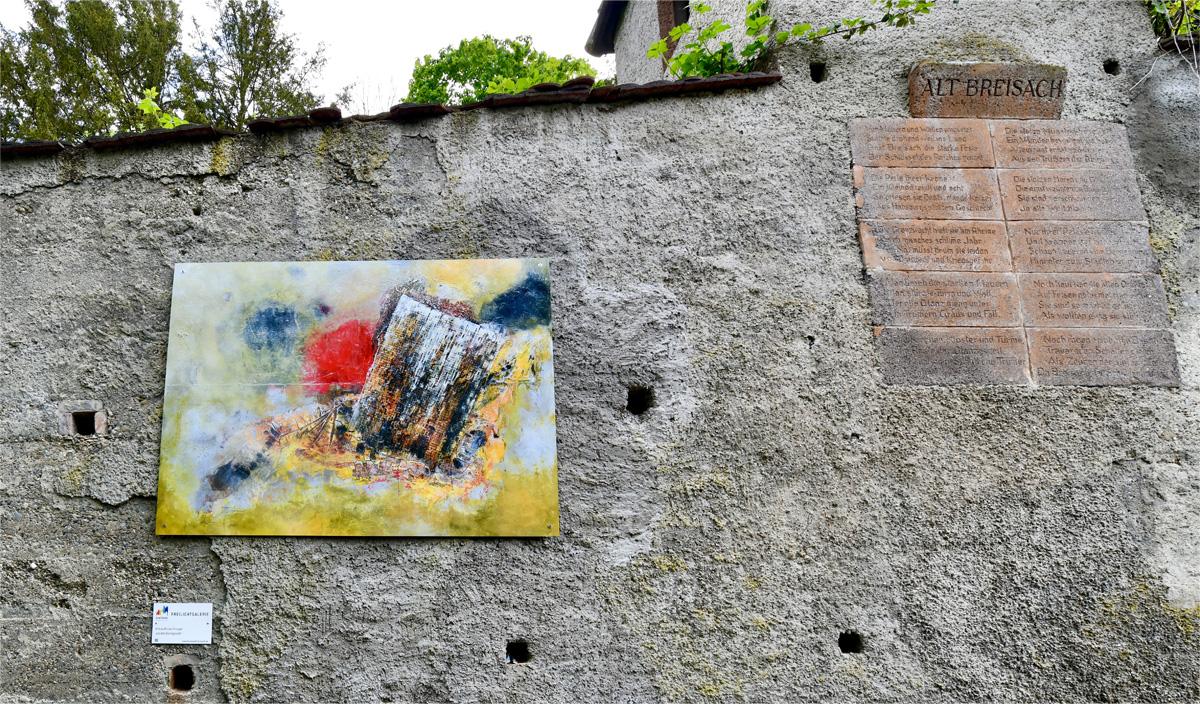 "Andrea Wilcke: Aus dem Gleichgewicht   Artur-Uhl-Weg   <a href=""https://www.andreawilcke-art.de/"" target=""_blank"">www.andreawilcke-art.de</a>"